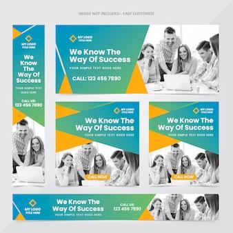 Corporate web banner ad set vorlage