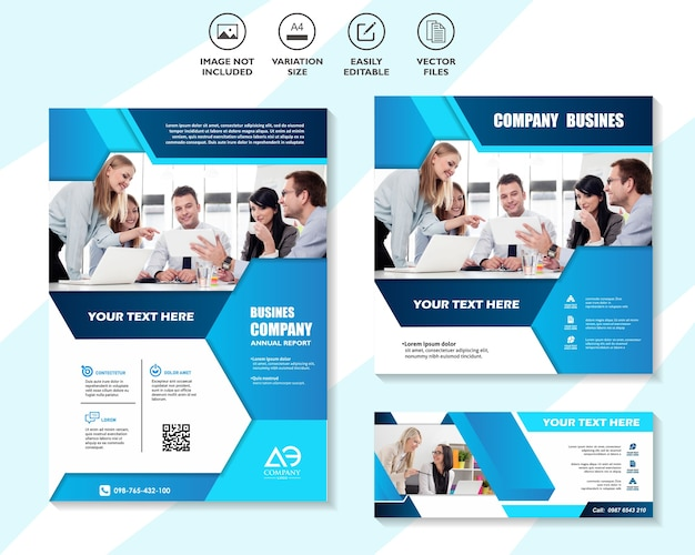 Corporate web banner template set Premium Vektoren