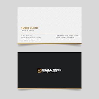 Corporate white und golden creative visitenkarte design-vorlage