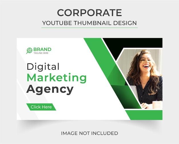 Corporate you tube thumbnail-vorlage