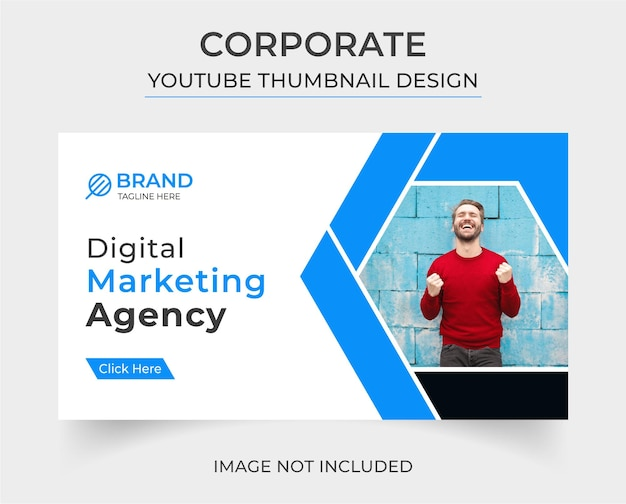 Corporate you tube thumbnail-vorlagendesign