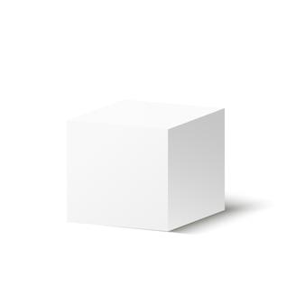 Corton box auf einem transparenten hintergrund. illustration eines geschenks oder pakets.