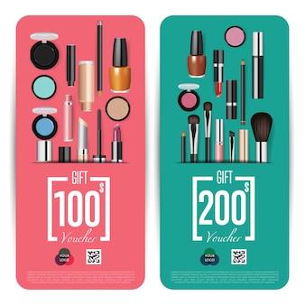 Cosmetics shop grand opening prepaid geschenkgutschein