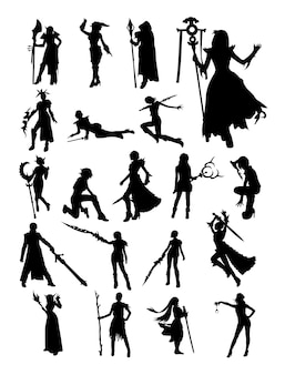 Cosplay silhouette