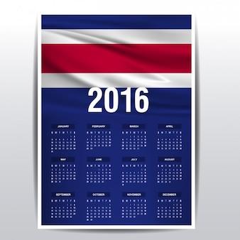 Costa rica-kalender 2016