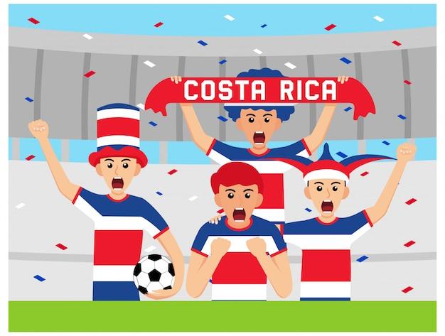 Costa rican unterstützer im flachen design