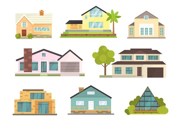 Cottage und verschiedene immobiliengebäude