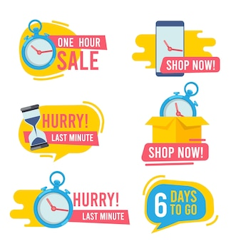 Countdown-abzeichen. promotion hot bietet schnelle verkäufe feuer emblem big deals marketing aufkleber sammlung. Premium Vektoren