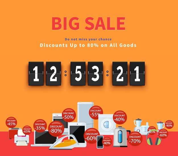 Countdown big discounts banner