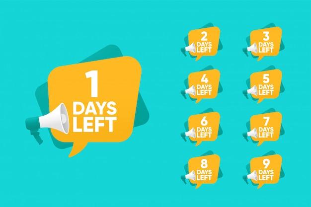Countdown für verbleibende tage