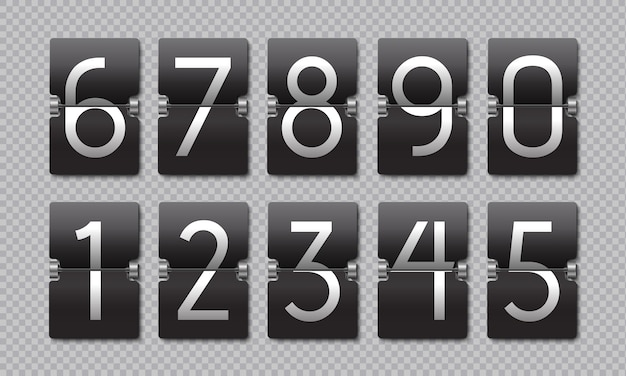 Countdown schwarze flip clock. anzeigetafel retro-panel, analoges restzeitbanner, digitaler zeitzähler.
