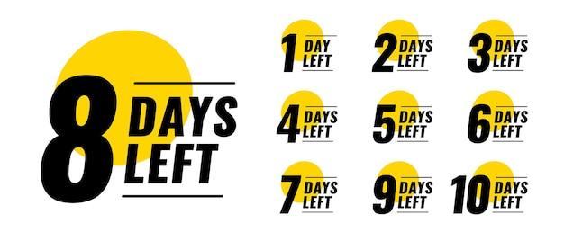 Countdown-timer-banner für flache tage übrig