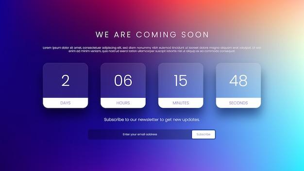 Countdown-timer-design für die website