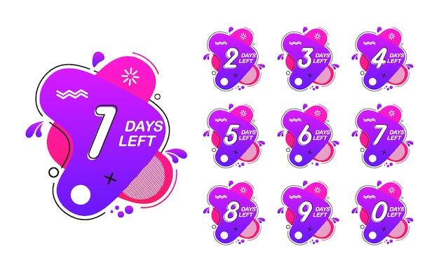 Countdown übrig tage zeit verkauf design