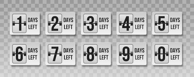 Countdown übrig tage. zeitverkauf zählen