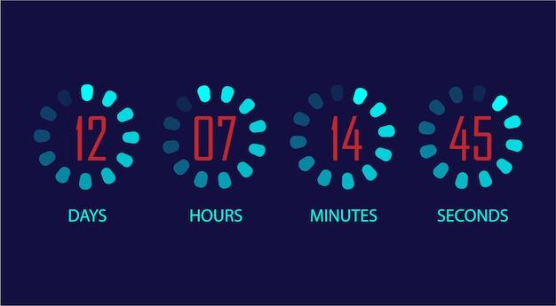 Countdown-uhr eingestellt