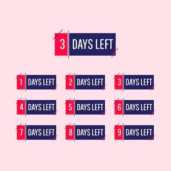 Countdown, verbleibende tage, zahlen.