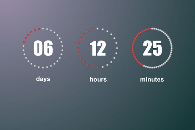 Countdown-vorlage digitaluhr