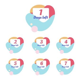 Countdown-vorlage für anzahl tage