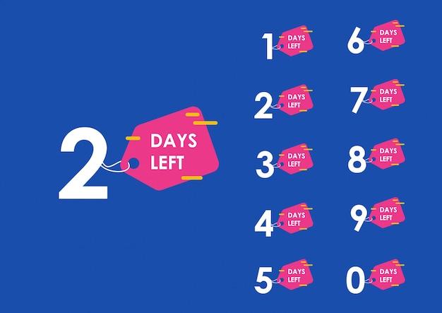 Countdown-vorlage für anzahl verbleibender tage