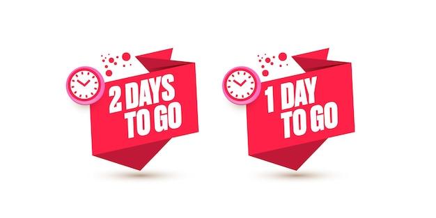 Countdown-vorlage für die anzahl der verbleibenden tage