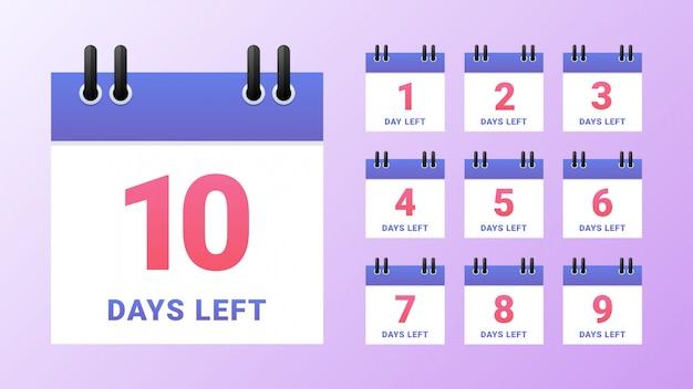 Countdown-vorlage für verbleibende tage