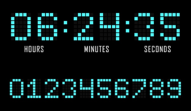 Countdown-website flache vorlage digitaluhr timer.