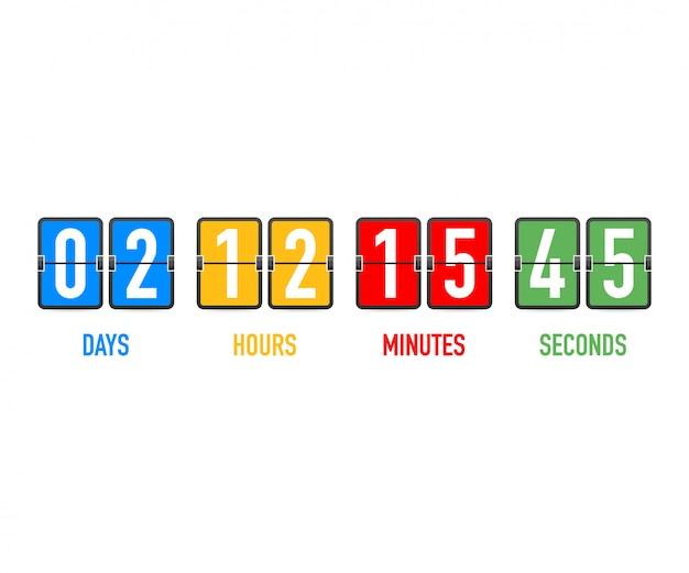 Countdown-zeitzähler.