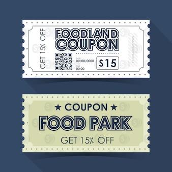 Coupon ticket card. retro vintage template design. illustration