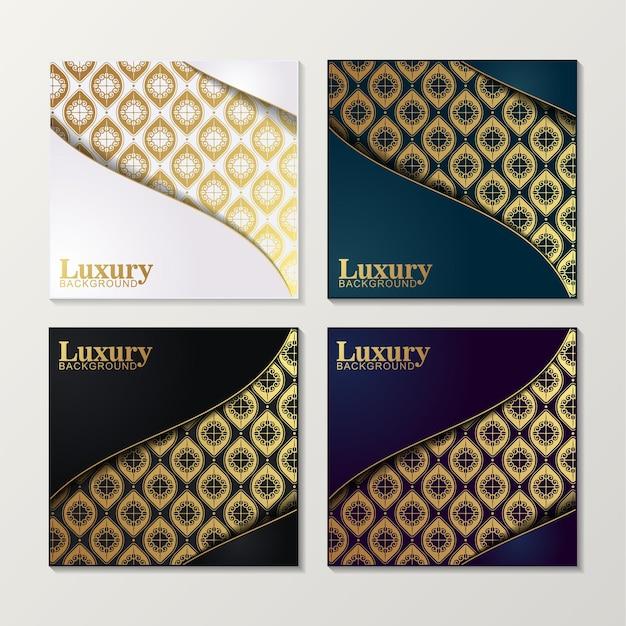 Cover aus elegantem mustermotiv in goldfarbe