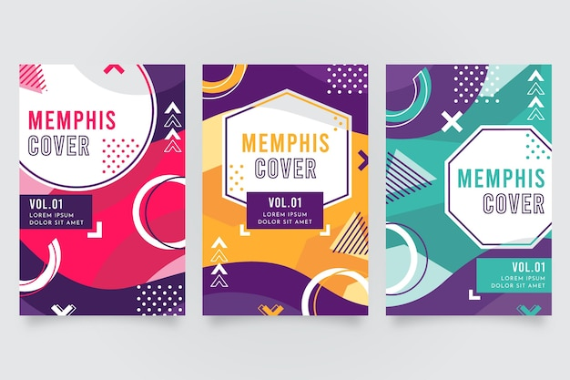Cover collection memphis design