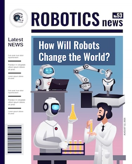 Cover des robotics-magazins