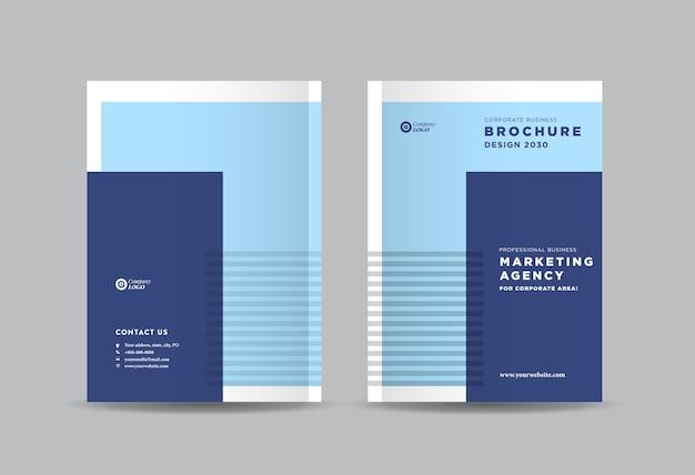 Cover-design der business-broschüre oder cover des geschäftsberichts und des firmenprofils oder cover der broschüre und des katalogs