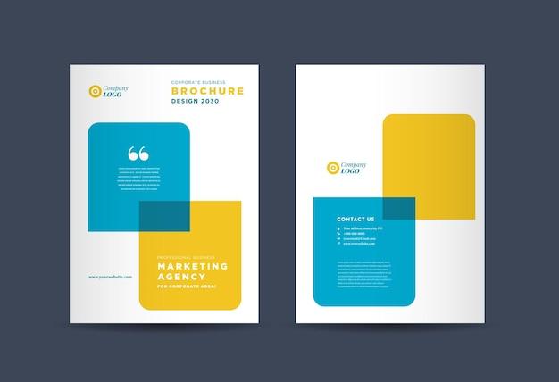 Cover-design der business-broschüre oder cover des geschäftsberichts und des firmenprofils oder cover der broschüre