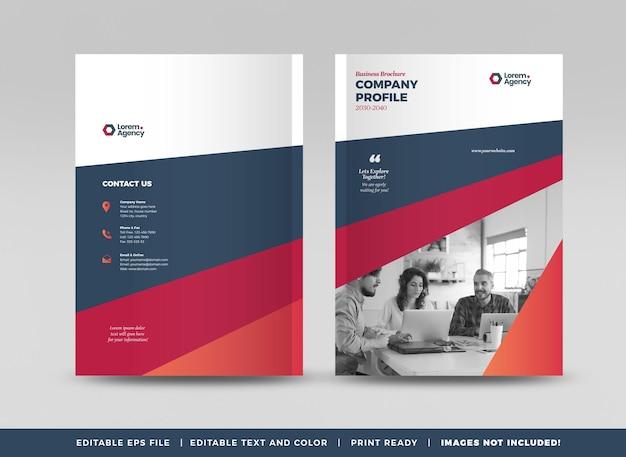 Cover-design der geschäftsbroschüre oder des jahresberichts und des firmenprofils oder der broschürenabdeckung
