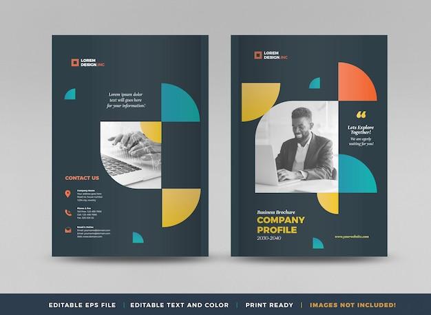 Cover-design für geschäftsbroschüren oder jahresbericht- und firmenprofil-cover oder booklet-cover