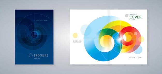 Cover design-jahresbericht, vektor-vorlagenbroschüren, flyer, präsentationen, broschüre, magazin