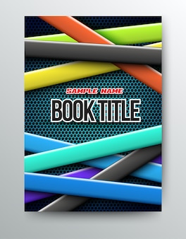 Cover design template farben bänder.