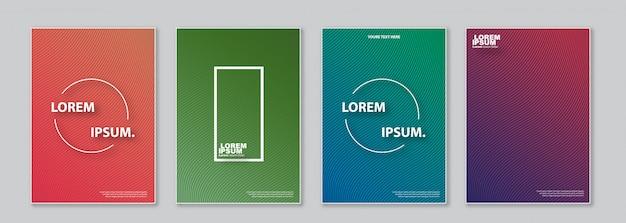 Cover-designvorlagensatz.