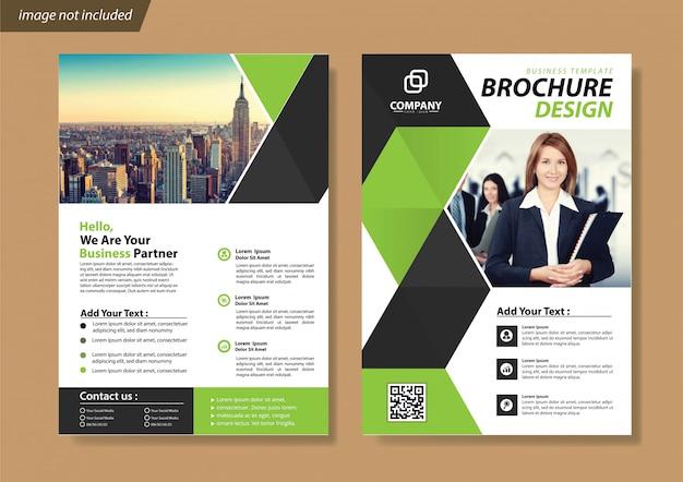 Cover flyer und broschürengeschäftsvorlage für den jahresbericht