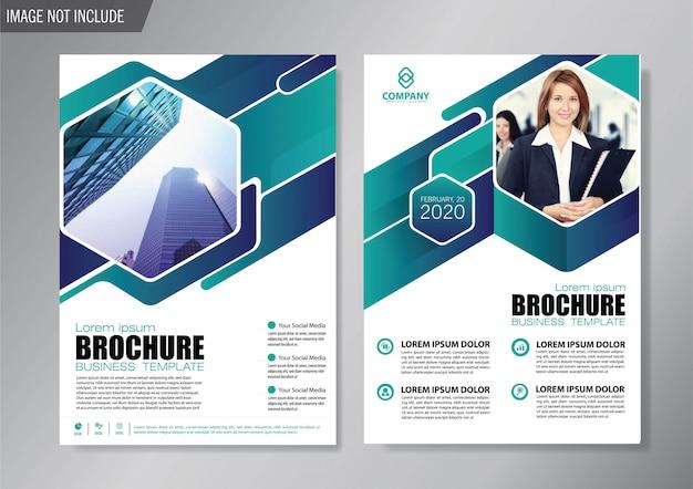 Cover flyer und broschürengeschäftsvorlage für jahresbericht