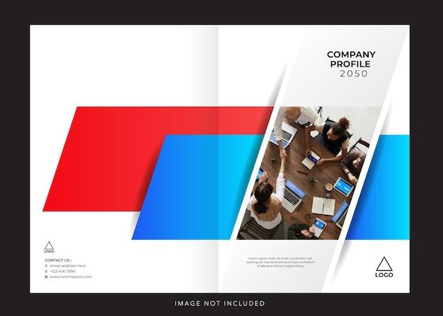 Cover für die gestaltung des unternehmensprofils