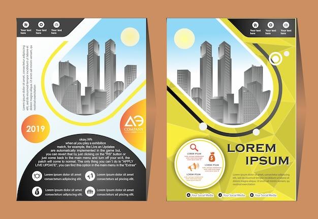 Cover layout broschüre magazin katalog für den geschäftsbericht
