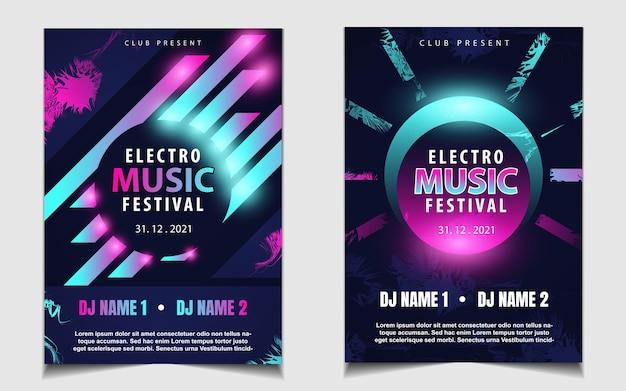 Cover musik poster flyer design hintergrund mit buntem lichteffekt
