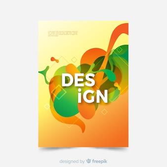 Cover-vorlage mit abstrakten design