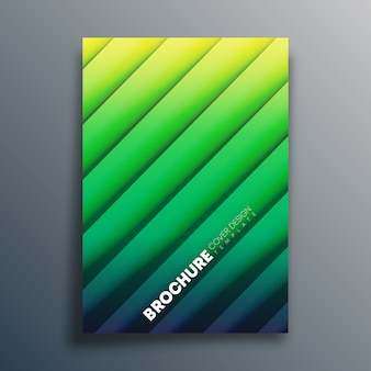 Cover-vorlage mit diagonalen linien f