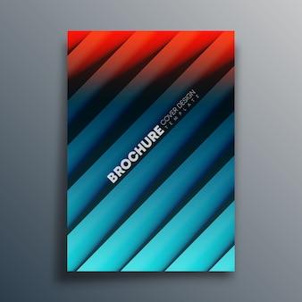 Cover-vorlage mit diagonalen linien