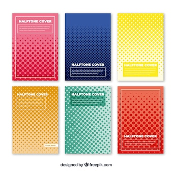 Cover-vorlage mit doted formen