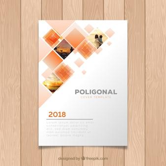 Cover Vorlage mit geometrischem Design und Foto