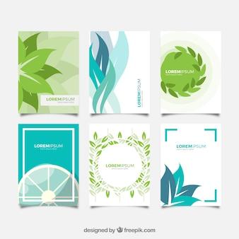 Cover-vorlage mit natürlichen formen